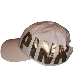 Victoria's Secret PINK white hat with gold logo